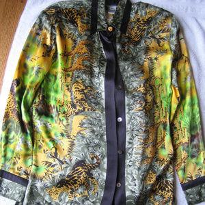 Paolo Santini Vintage 100% Silk Blouse
